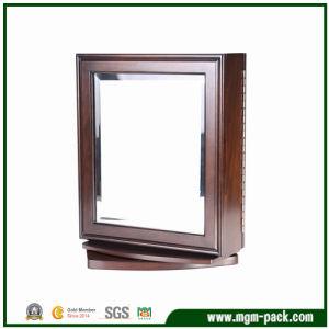 Casella di memoria di legno personalizzata alta qualità dei monili con il grande specchio