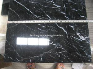 Nero Marquina китайского черного мрамора на полу плитка