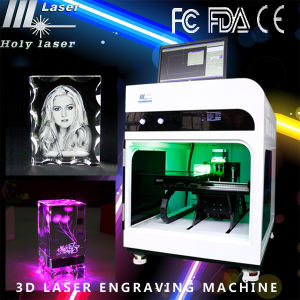 2015 Équipement Maintenant 2D 3D Photo machine laser Graveur machine de gravure laser intérieur pour Crystal / Verre automatique (HSGP-2KC)