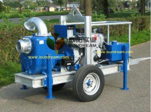 6 -12 Auto Motor diesel da bomba de lixo de escorva da bomba de reboque (móvel)