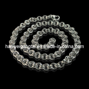 Monili Chain, Stainless Steel 6mm Cable Chain Necklace