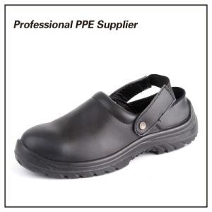 Cuero genuino Puntera Zapato de seguridad Zapatilla de verano