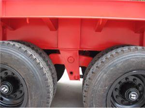 40feets Flatbed Semi die Aanhangwagen 2axles in China wordt gemaakt