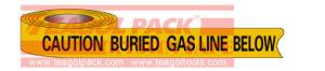De ondergrondse Band van de Gasleiding van de Voorzichtigheid