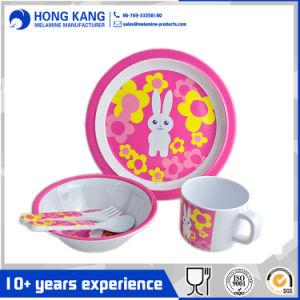 5pcs ensemble Mélamine Kids vaisselle