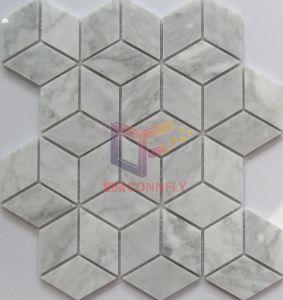 Würfel Bianco Carrara Marmormosaik für Wand und Fußboden (CFS1193)