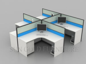 Modernos muebles de madera barata resistente al agua de la partición de la oficina Material de la pared (SZ-WS809)