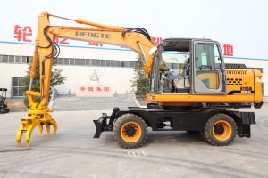 Excavadora de ruedas China Hengte HT155W