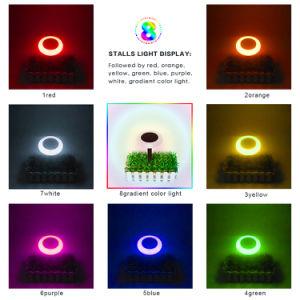 Wasserdichte LED im Freien Farbe-Ändernde Solarenergie des Yard-Garten-Licht-
