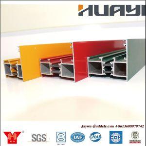Revêtement en poudre Extrusion profiles en aluminium de vitre coulissante de matériaux de construction en aluminium