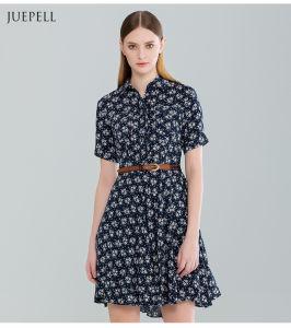 Moda vestido de mulher amadurece impresso Floral para o Verão