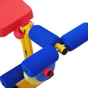 Em forma de Y ajustável apoiante pedaços de banco de peso crianças equipamento de ginásio