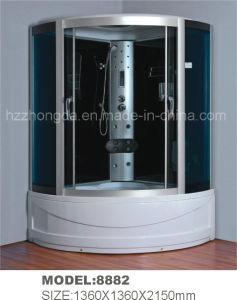 Utensilio de ducha de lujo gran habitación con cristal templado negro