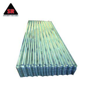 Feuille de métal ondulé en acier galvanisé le panneau de toiture