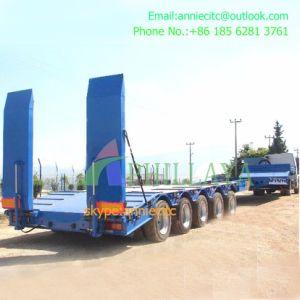 Equipamento Pesado Prolongável Multi-Axles semi reboque cama baixa