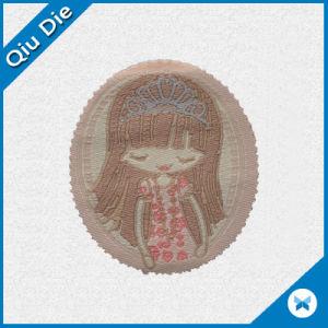 Hermoso etiqueta tejida con puntilla de ropa para niñas