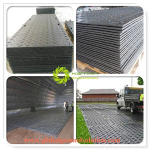 Het de zwarte Plastic Mat van de Weg/HDPE Plastiek die van de Techniek Tijdelijke Rijwegen bouwen