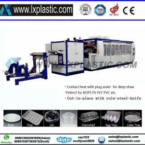 L'eau en plastique semi-automatique de café tasses de lait contenant des aliments bol pour machine de thermoformage PP PS Matériau pet