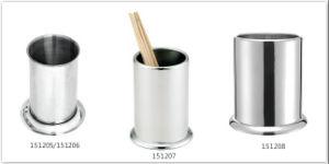 円形のステンレス鋼のわらの箸の食事用器具類のホールダー(151205/151206/151207/151208)
