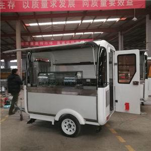Kaffee-Straßen-Schnellimbiss-Maschinen-Getränk-Verkauf-Karre