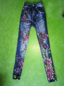 Imitazione del reticolo di modo dei pantaloni dei jeans per i vestiti delle signore di svago delle donne