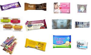 フルオートマチックOPP&PEのフィルム袋の物質的な包むチョコレート・バーの包装機械