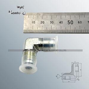 Codo de 90 grados JIC 74 macho de acero cono adaptador (1J9).