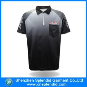 Maglietta di polo della stampa di sublimazione di modo degli uomini del commercio all'ingrosso della fabbrica della Cina