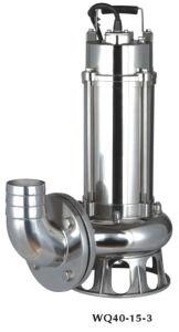 Flange de qe de ferro fundido em aço inoxidável submersíveis bomba de esgoto (QE100-10-7.5ST)