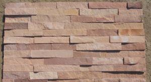 Roze Lei 60X15cm van de Muur van de Steen van de Cultuur van het Zandsteen
