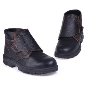 Slip negro en la puntera de zapatos de seguridad para el trabajo