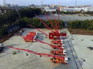 Camion montato camion di pompaggio della pompa per calcestruzzo di altezza del macchinario 21-37m di Constrcution