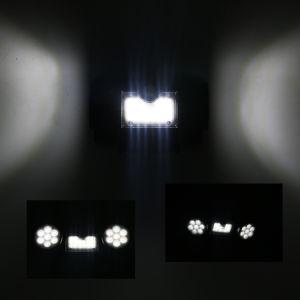 LEDの製造の太陽庭の黒の倍ヘッドライト