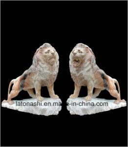 Het natuurlijke het Snijden van de Kunst van de Steen Beeldhouwwerk van het Dier/van de Leeuw voor Landschap/Decoratie