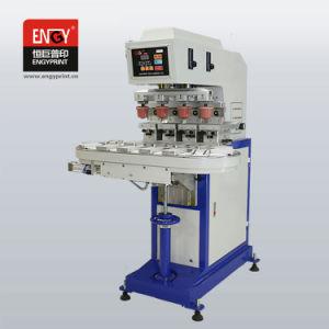 4개의 셔틀, 컨베이어를 가진 패드 인쇄 기계를 가진 기계를 인쇄하는 색깔에 의하여 밀봉되는 잉크 컵 및 열려있는 쟁반 패드