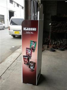 Supermarkt-Gebrauch-oberster haltbarer Kaffee-Fußboden-stehende Bildschirmanzeige-Zahnstange