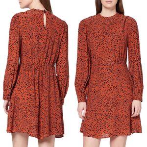 Diseño de 2020 el otoño de la mujer Manga Larga Leopardo Slim Imprimir Maxi de Bohemia parte de la moda casual vestido de mujer