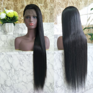 Soyeux chinois droites Virgin Hair Extensions Cheap Cheveux humains Full Lace Wig