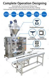 Grande 1-5kg em pó vertical da linha de produção de máquinas de pacote