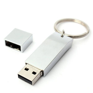 Le trousseau de métal de stockage Flash Memory Stick USB 2.0 pour cadeau