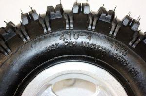 3.50/4.10 - 4 インチの車輪の縁+タイヤのタイヤ49ccの小型クォードの土のバイクATVのバギー