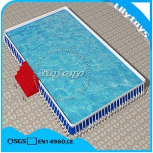 Au-dessus de la masse du châssis de la piscine extérieure pour les jeux du parc de l'eau