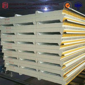 30mm PU (poliuretano) Aislamiento térmico compuesto de la hoja de acero Panel Sandwich Teja junta