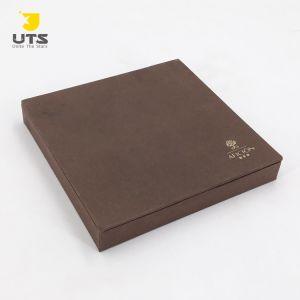Plaza medio personalizado para la caja de regalo de color marrón chocolate/Caramelos/Cookie con patron Imprimir