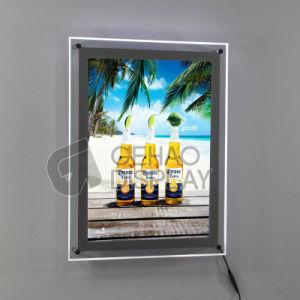 Presentación de imágenes de pantalla LED de luz de acrílico fotograma póster