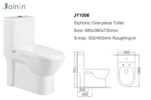Gesundheitliche Ware-keramische Arbeitskarte-Toilette von Chaozhou mit Zubehör (JY1006)