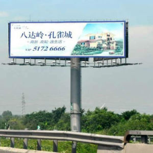 Trois côtés de la structure en acier enseigne publicitaire Billboard