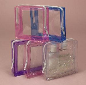 人気のある様式カラーかゆとりまたは透過エヴァの化粧品袋