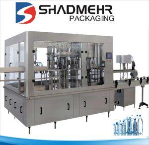 L'eau minérale de l'embouteillage de la machine à laver potable liquide