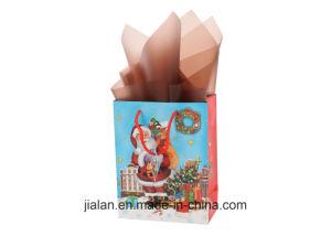 사랑스러운 산타클로스 행복한 크리스마스 선물 종이 봉지